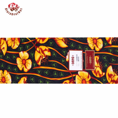 Ankara African Polyester Wax Prints Fabric Bule Super Hollandais Wax High Quality 6 yards African Fabric for Party Dress PL981