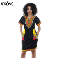 c5424924 ... Aproms Women Summer Bodycon Dress 2018 Robe Sexy Casual Sundress Plus  Size Clothing Vintage African Print