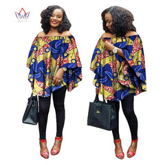 04a46d5b256a ... Autumn 2018 African women tops rich print wax tops loose style upper  outer garment africaine bazin