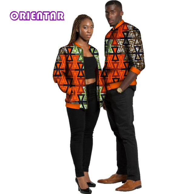 cfde2c758 ... Men Women Africa Print Long Sleeve Coat Tops Lover Couples Clothing.  Hover to zoom