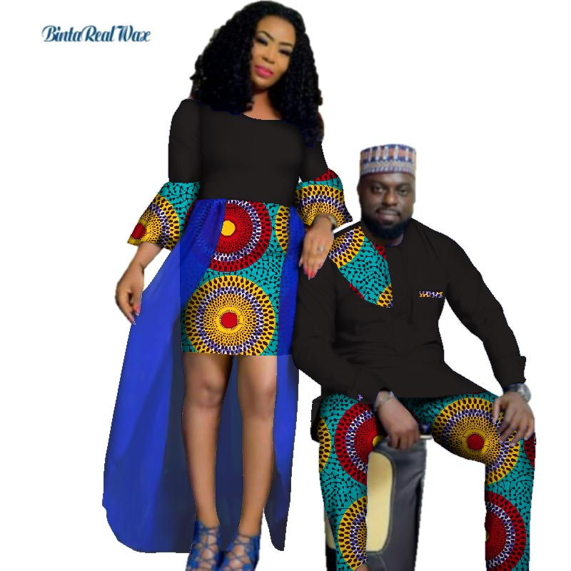 f9c946a07 Autumn African Print Yarn Dresses for Women Bazin Mens Shirt and ...