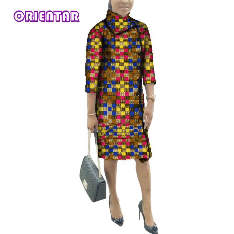 ae2c590b91 ... Print Trench Coat Long Shirt Dresses Cotton Long Sleeve. Hover to zoom