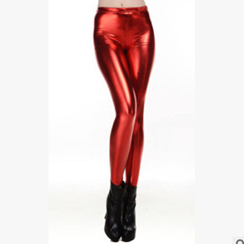 8570d97a ... Image of Autumn Winter PU Leather Pants Women High Waist Skinny Stretch  Pencil Leggings Sexy Black ...