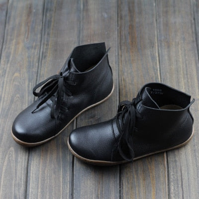 2122c575a8 ... Image of BEYARNE (35-42)Women Ankle Boots Hand-made Genuine Leather ...