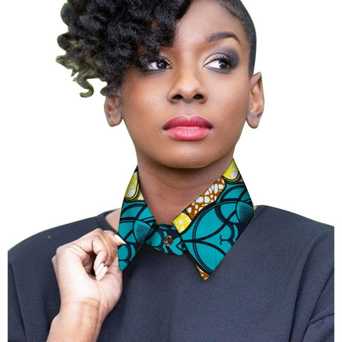 BRW African Print Fabric Ankara Necklaces Handmade Tribal Twisted Rope Necklace Jewelry African Statement Bib Necklace WYB376