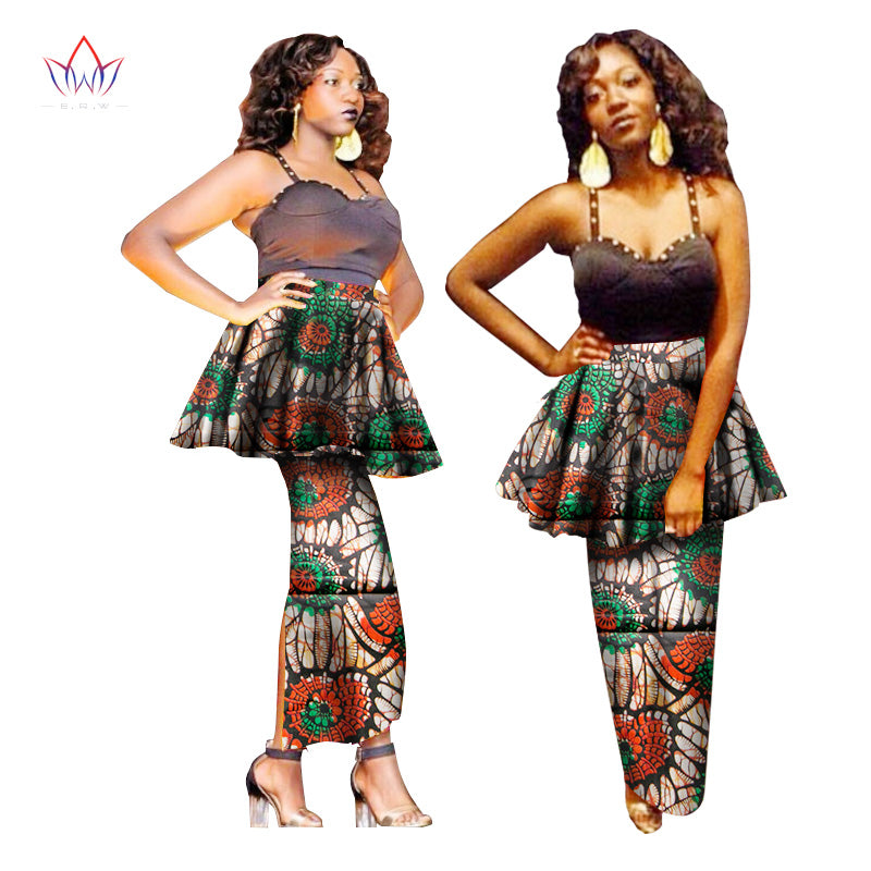 c54aa38dab BRW Ladies Skirts Africa Style Pencil Skirt Floral Long Skirts Summer  Dashiki African Print Plus Size. Hover to zoom