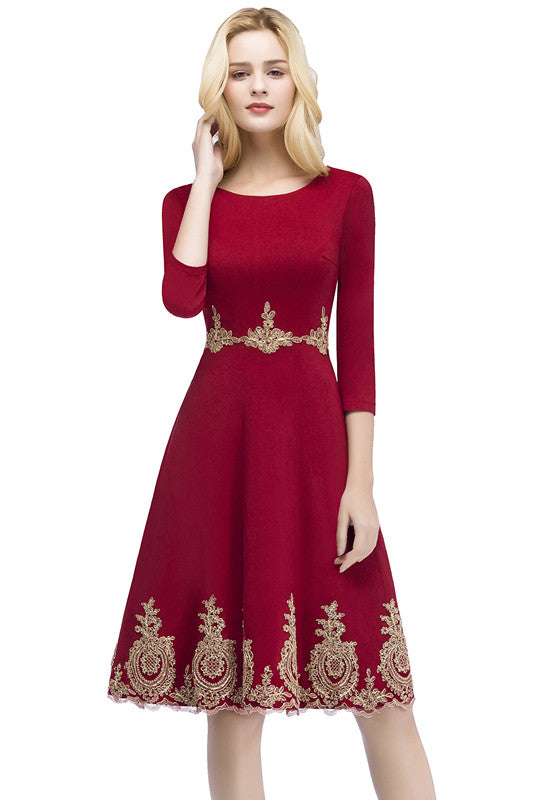 234c7b8f46fed Babyonline New Arrival Burgundy Short Lace Evening Dress 2018 Homecoming  Dresses with Sleeve Robe de Soiree Courte