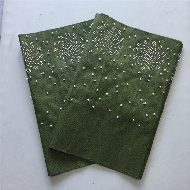 Beautiful design Beads African aso oke best Quality Nigerian Shinning aso  oke Headtie For Party aso oke with stones