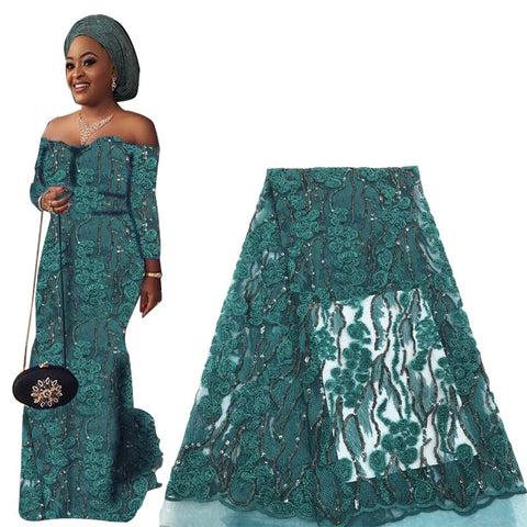 Best Selling Sequin Lace Fabric 2019 Embroidery Nigerian Laces Fabric High Quality French Tulle Lace Fabrics