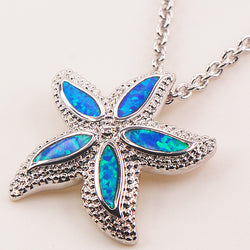 Blue Fire Opal 925 Sterling Silver Fashion Jewelry Pendant P135