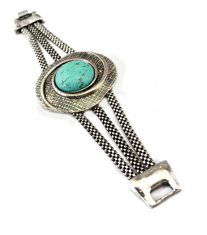 Bohemian Tibetan one direction vintage jewelry bracelets & bangles femme snake chain Blue Stone big bracelets for women Gypsy
