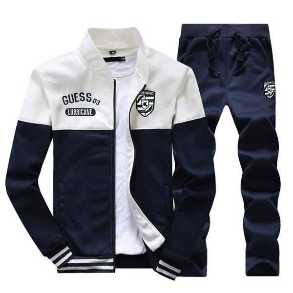Brand New Men Sets Fashion Autumn Spring Sporting Suit Sweatshirt +Sweatpants Mens Clothing 2 Pieces Sets Slim Tracksuit