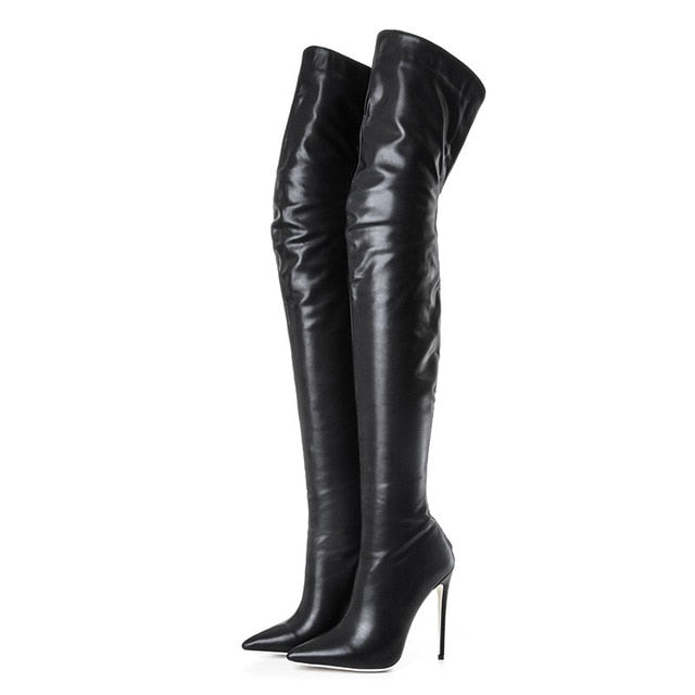 dd3ed80bc COCOAFOAL Sexy Women's Over The Knee Boots Woman Patent Leather High High  Boots Plus Size Fashion. Hover to zoom