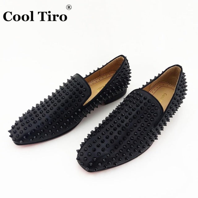 ... COOL TIRO Handmade Spikes Rivet Mens Loafers Suede Luxury Gentman Dress  Shoes Men s Wedding Party Smoking ... 6245d9b249b8