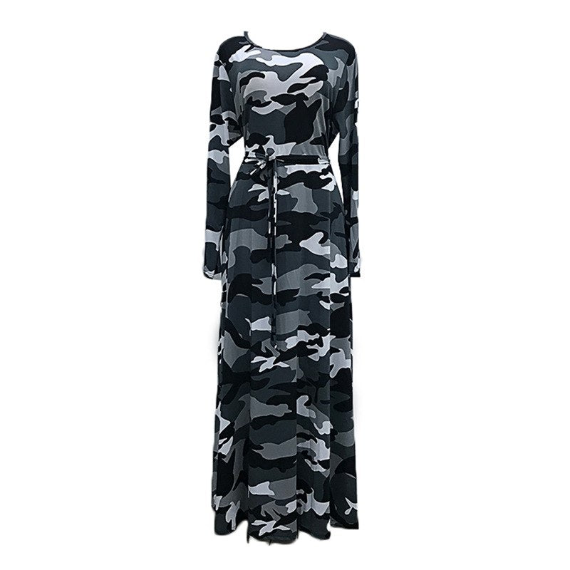 d07bcb92afd ... Casual Dress Plus Size Bodycon Dress Spring Loaded Fat Female 2018 New  Camouflage Floral Ladies Dresses