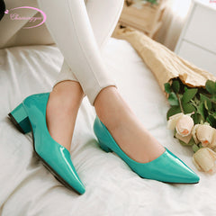 4e178064445d1 Chainingyee casual style sexy pointed toe paint pumps slip-on black blue  red green yellow ...