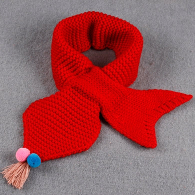 Girl's Accessories Autumn Winter Warm Children Knitted Scarf Handmade Ball Baby Neck Sleeve Candy Color Ball Scarf Kids Scarf