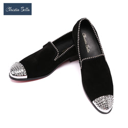 Christia Bella Luxury Limited Edition Italy Type Men's Loafers Male Slip-on Pearl Shoes Brand Wedding Party Loafers Flats Shoes