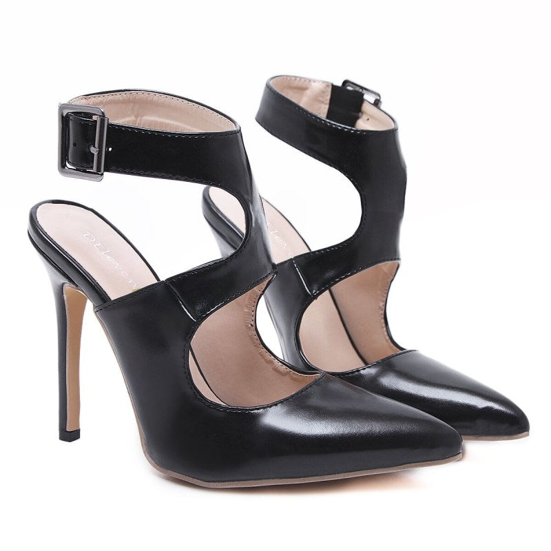 ... DEleventh Gladiator sandals women s shoes stilettos high heels sandals  pointed toe sexy party woman female sandal 5f5fe693bc9b