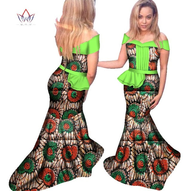 8b6edbcc6eb1a Dashiki 2018 Fashion Traditional African Dress for Women Vestidos Sexy  African Clothes Plus Size Dress for Party BRW WY2520