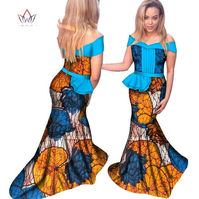 1632b63cfbd Dashiki 2018 Fashion Traditional African Dress for Women Vestidos Sexy African  Clothes Plus Size Dress for. Hover to zoom