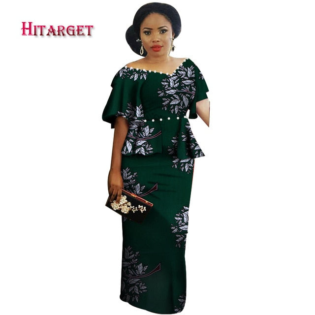 4ca4e9218ae4 ... Wedding/Party dress african prints dresses africa clothes Pearl  decoration. Hover to zoom