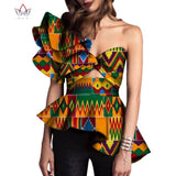 Dashiki African Print Tops Shirt for Women Africa Modern Style Bazin Riche Tops Plus Size Traditional Women Clothing WY3329