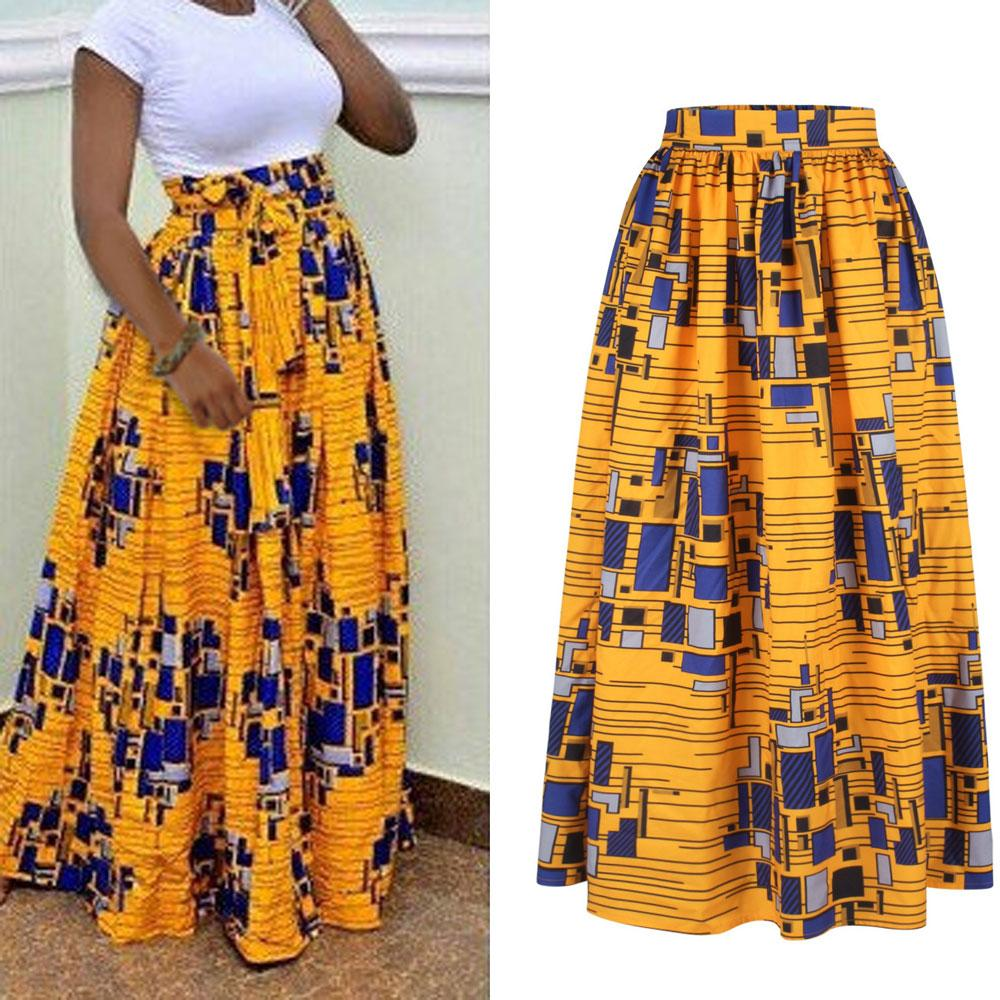 387daa44af ... Plus Size High Waist long skirt Floral African Print Maxi. Hover to zoom