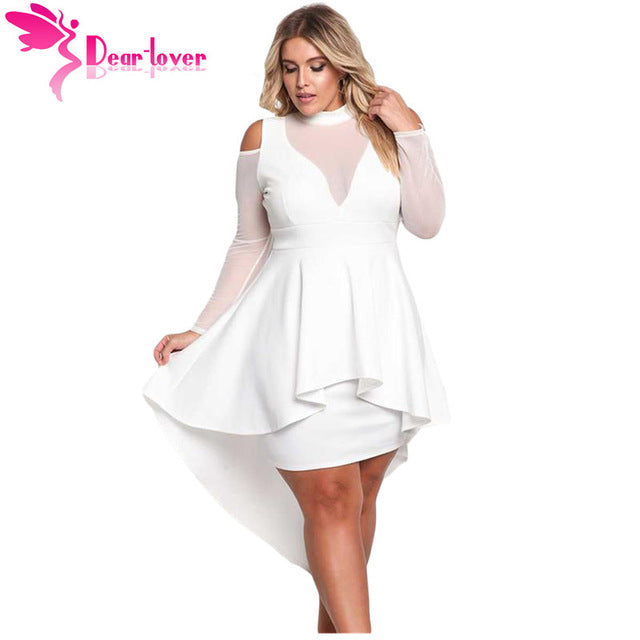 fc034aa9b Hover to zoom · Dear Lover Long Sleeve Dress Autumn Big Ladies Party Robe  Black ...