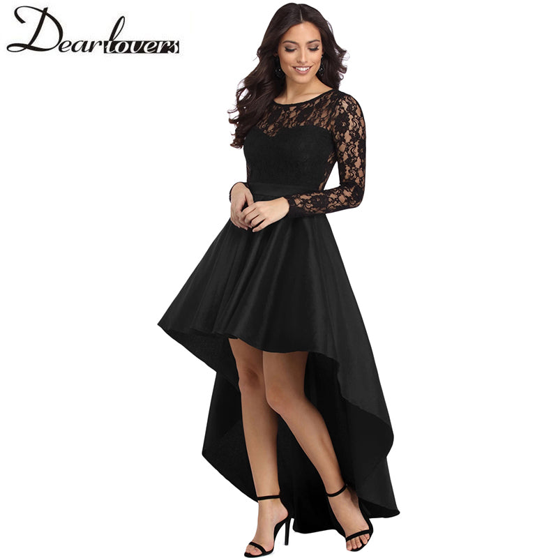 9cc72d01413 Hover to zoom · Dear Lovers Long Sleeve Lace Elegant Dress Party 2018 ...