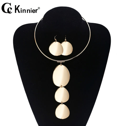 Dubai gold beads wedding jewelry set, the bride necklace, fashion Africa Nigeria exaggerated style sweater chain in Europe
