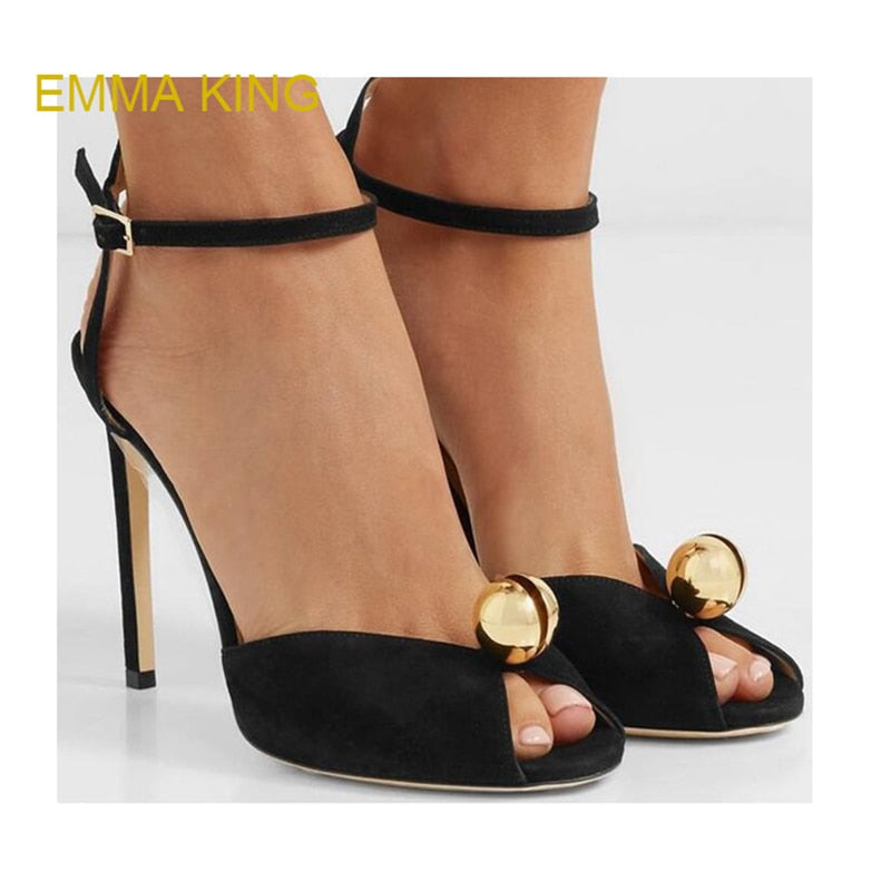 ... EMMA KING Big Size 35-43 Sandal Women s Shoes Fashion Crystal Pearls  High Heel Zapatos ... b4126bff4be7