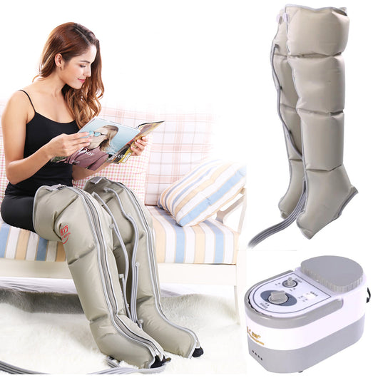 Electric Air Compression Leg Massager Leg Wraps Foot Ankles Calf Massage Machine Promote Blood Circulation Relieve Pain Fatigue