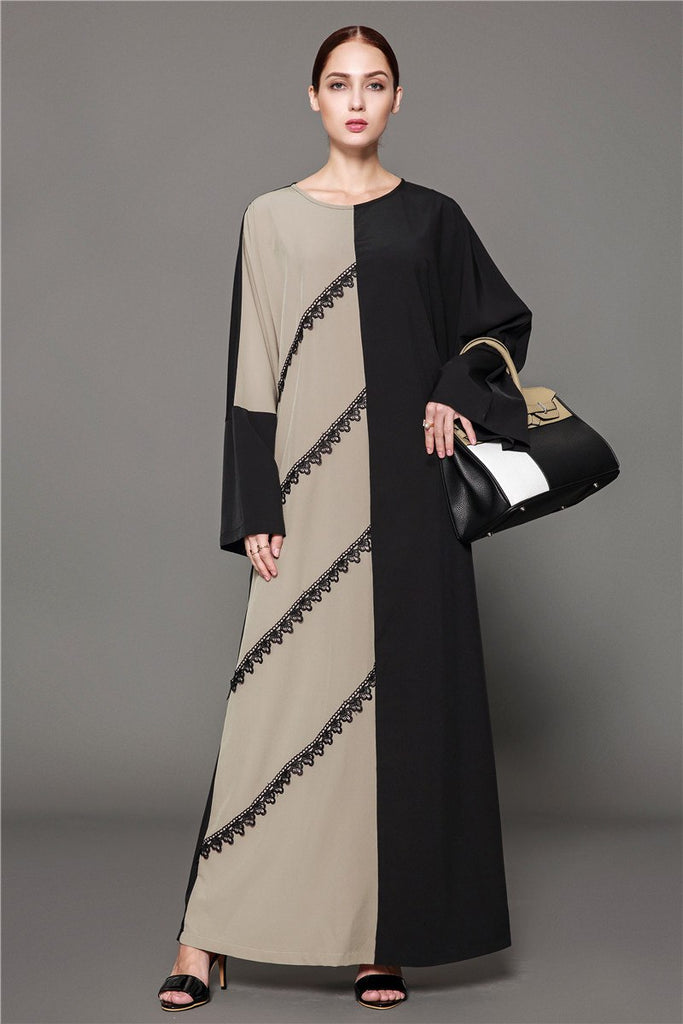 11f3d57dbb ... Dress Paneled Flare Long Sleeve Robes Tunic Middle East Arab Turkish  Islamic. Hover to zoom