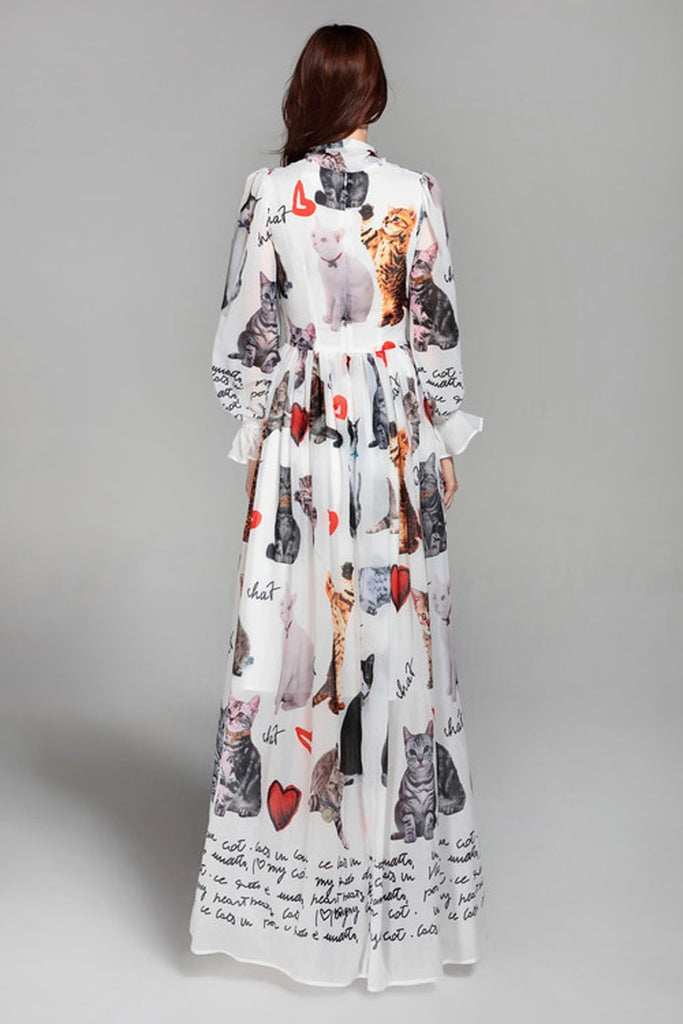 a0d364d07ad7 Europe Style 2018 Spring&Summer Newest Maxi Dress full Sleeve ...