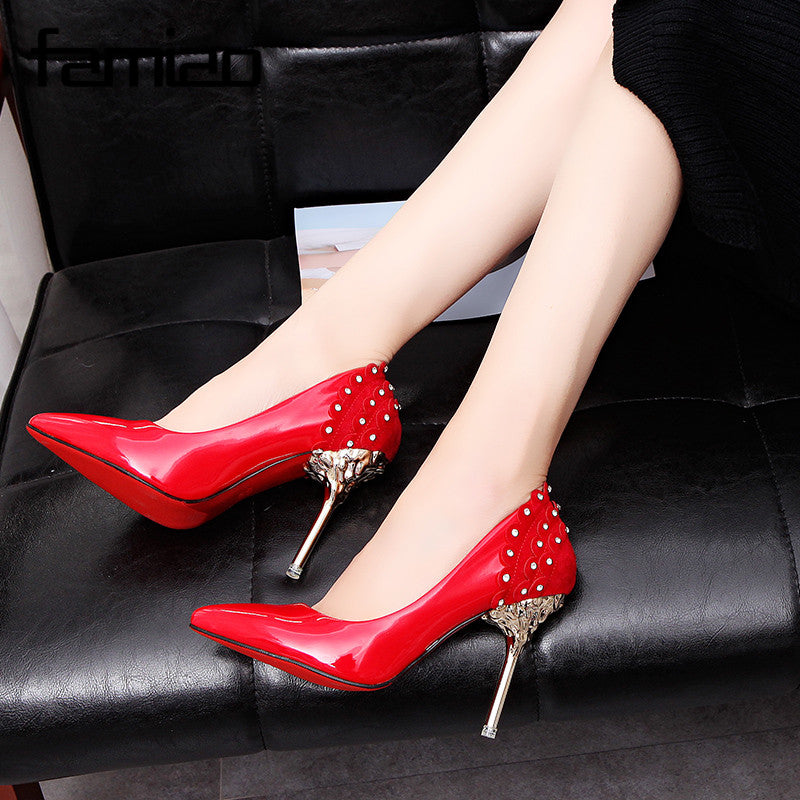 ... FAMIAO crystal wedding shoes pumps women shoes red luxury shoes women  designers 2018 red bottom high ... 4c9d575db