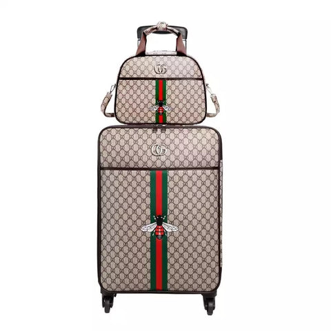 a319f73e5 Image of Fashion 16/20/24 inch PU Rolling Luggage Spinner Brand Travel  Suitcase ...