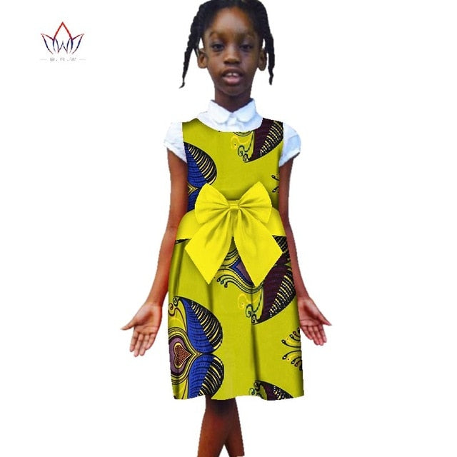 6f10b21bc0902 Hover to zoom · Fashion 2018 New Style Africa Dress for Children Dashiki Cute  Girls Dresses Bazin Riche Bowknot Sweet