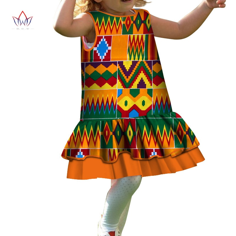 3a14ceb9730b7 Fashion 2019 New Style Africa Dress for Children Dashiki Cute Girls Dresses  Bazin Riche Bowknot Sweet Baby Clothes WYt296