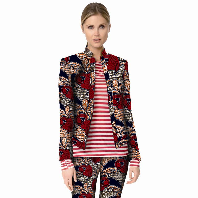 Fashion Africa Costume African Colorful Print Women Suit Jacket