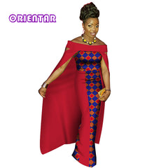 f4f3d14b21b2 Fashion African Dresses for Women Bazin Riche Patchwork Cloak Long Dresses  Clothes Party Traditional African Clothing ...