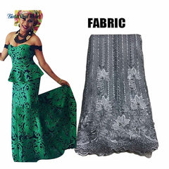 Fashion Embroidered African Tops and Skirt Sets with Headtie for Women Bazin Dress African Lace 2 Piece Sets Clothing XG082