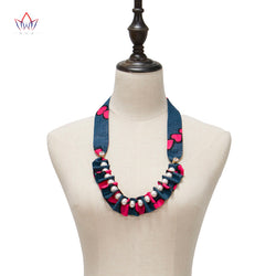 Fashion Necklaces for Women 2020 statement African Ethnic Handmade Jewellery African Fabric Jewellery Necklace For Women WYB522