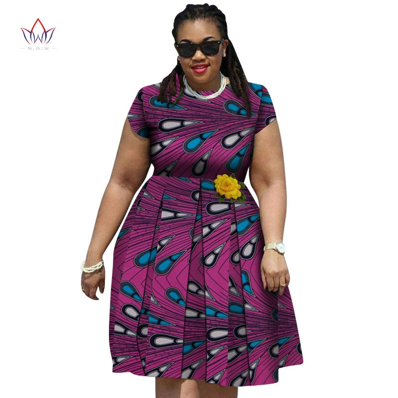 9655f6f069 Fashion New African Print Dresses for Women Bazin Riche Traditional African  Women Clothing elegent women plus size dress wy4350