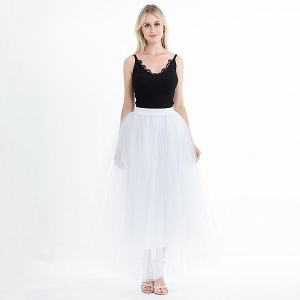 a806482512ab Fashion Skirt Tulle Skirts Long Womens Maxi Skirts 2018 Spring ...