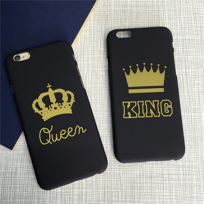 539c334dc6 Fashion Slim Matte King Queen Crown Phone Case For iPhone 5 5S SE 6 6S Plus.  Hover to zoom