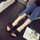 Flat Slippers Women Summer Shoes Fashion Bow Tie Slides Satin Women Basic Beach Slippers Luxury Platform Pink Black Ladies Shoes
