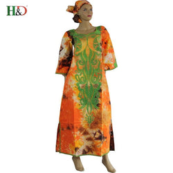 (Free Shipping)2017 African woman bazin dress cotton tie-dyed African tradition Embroidery dress riche for women