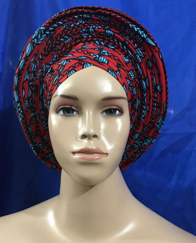 Free shipping aso oke fabric ankaran wax fabric auto gele african headtie turban