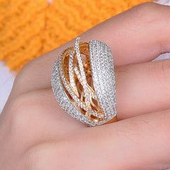 Image of GODKI Luxury Geometry Winding Statement Rings For Women Wedding Crystal Zircon Dubai Bridal Finger Rings Jewelry Addiction 2018